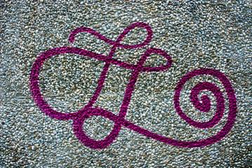 Grafitti Lila Zeichen