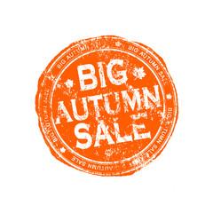 Big autumn sale grunge stamp