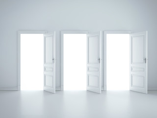 three open doors