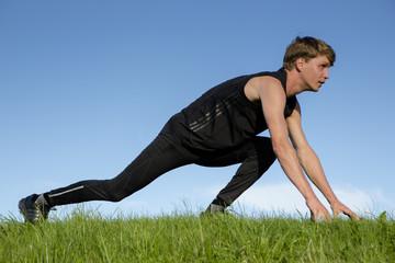 Sportsman is prepare for speedrun