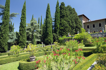 Garden of Villa Peyron in Fiesole, Florence, Tuscany, Italy, Eur
