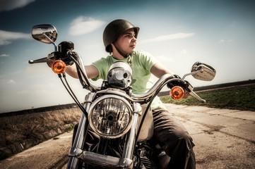 Fotomurales - Young biker