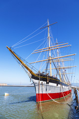Vintage 1886 sailing ship on public display at San Fr