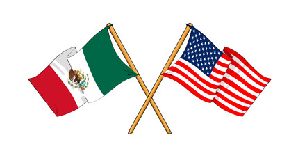 America and Mexico alliance and friendship