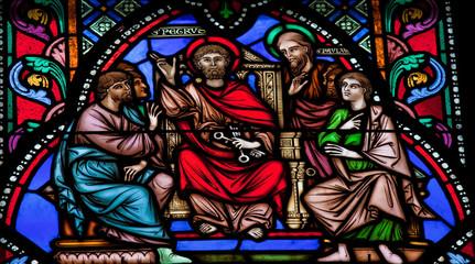 Photo sur Plexiglas Vitrail Saint Peter and Saint Paul