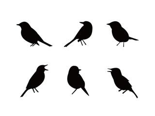 シルエット 鳥