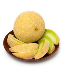 freshly cut melon
