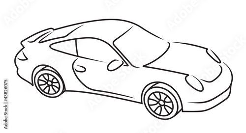 Line Art Car : Quot car line art stock image and royalty free vector files