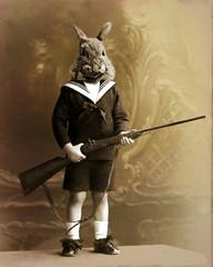 Fototapeta lapin chasseur obraz