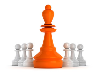 Leadership symbol - chess figures