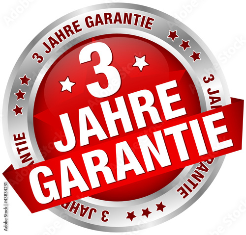 button banner 3 jahre garantie rot silber stockfotos und lizenzfreie vektoren auf fotolia. Black Bedroom Furniture Sets. Home Design Ideas