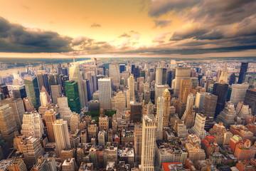 Fotomurales - Crépuscule sur New York.