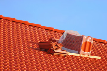 Rote Dachziegel