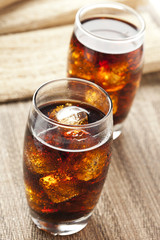 Refreshing Brown Soda with Ice