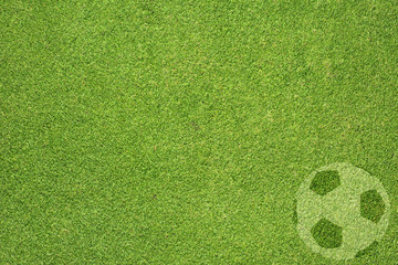 football on green grass texture and  background