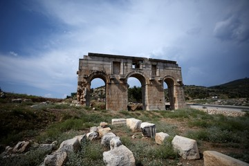 Ruins of City Gate to ancient Patara