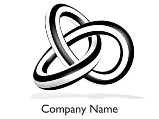 loop as a company logo on white background - 3D
