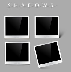 Set of vector photos with shadow effects
