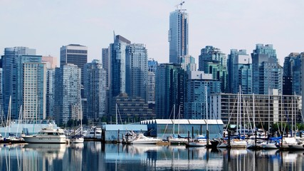 Fotobehang - High Rise Buildings in Downtown Vancouver, Canada