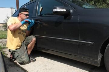 Thief steals car