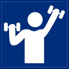 Fototapete - Schild - Fitnessraum
