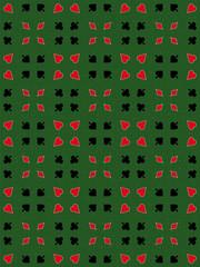 leaves spades diamonds hearts trendy poker pattern