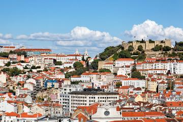 Blick auf Lissabon mit Castelo de Sao Jorge