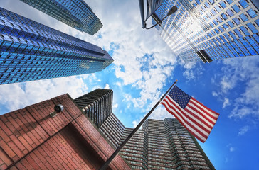 Fototapete - Buildings à New York, Etats-Unis.