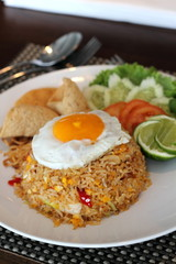 Fried rice with fried egg