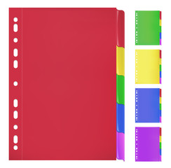 Colorful Folders with Bookmarks