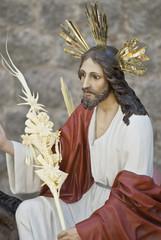 Imagen de Cristo en la procesión de las palmas.