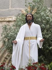 Imagen de Jusucristo entre los olivos.
