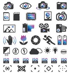 Photo camera icons