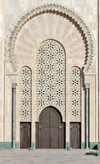 Gate of the Hassan II Mosque Casablanca Morocco