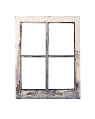 Old rustic window frame