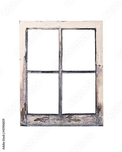 Old rustic window frame\