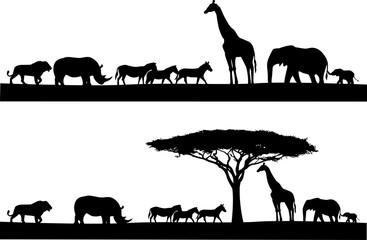 Safari animal silhouette