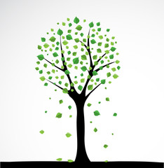 Background with abstract tree. Vector