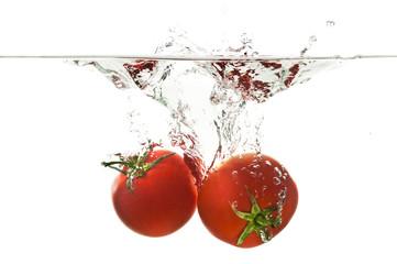 Poster Eclaboussures d eau Tomato Splash