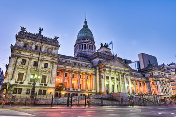 Papiers peints Buenos Aires Argentina National Congress building facade on sunset.