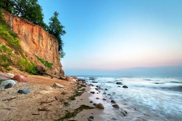 Cliff of Orlowo at Baltic sea, Poland - fototapety na wymiar