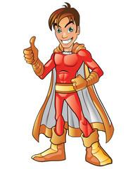 Fotobehang Superheroes Orange Super Hero Boy