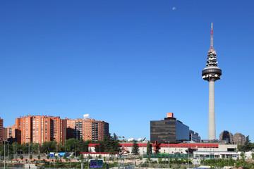 Madrid Skyline with Piruli Tower