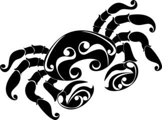 tattoo Cancer. Astrology sign. Vector zodiac