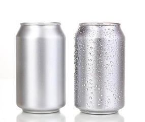 Wall Murals Beer / Cider aluminum cans isolated on white