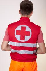 Young male ambulance technician