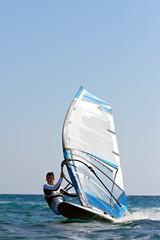 Windsurfer passing by