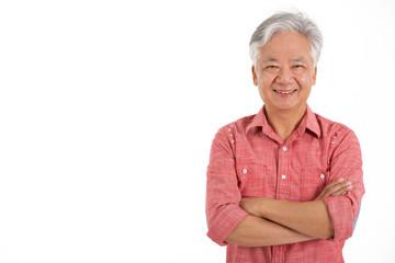 Studio Shot Of Chinese Senior Man