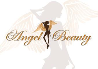 angel beauty vector logo