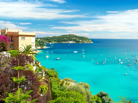 beautiful mediterranean landscape, french riviera